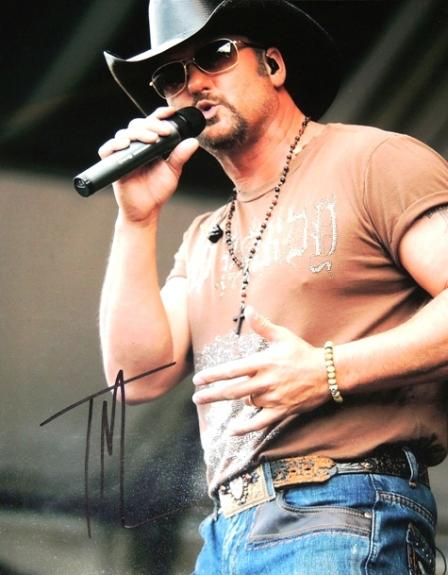 Tim McGraw Signed - Autographed Country Music Singer 11x14 inch Photo - Guaranteed to pass BAS