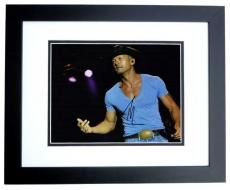Tim McGraw Signed - Autographed Concert 11x14 Photo BLACK CUSTOM FRAME