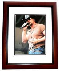 Tim McGraw Signed - Autographed Concert 11x14 inch Photo MAHOGANY CUSTOM FRAME - Guaranteed to pass PSA or JSA