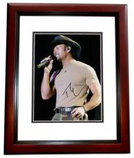 Tim McGraw Signed - Autographed Concert 11x14 Photo MAHOGANY CUSTOM FRAME