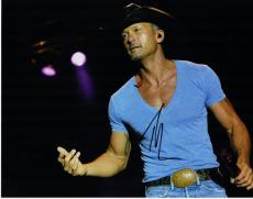 Tim McGraw Signed - Autographed Concert 11x14 Photo
