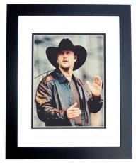 Tim McGraw Autographed Concert 8x10 Photo BLACK CUSTOM FRAME