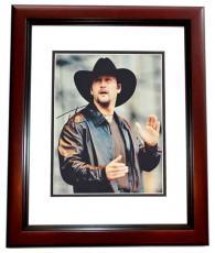 Tim McGraw Autographed Concert 8x10 Photo MAHOGANY CUSTOM FRAME