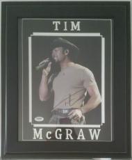 Tim McGraw Autographed Signed 8x10 Framed 11x14 PSA DNA