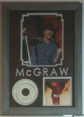 Tim McGraw Autographed Signed 8x10 Framed 12x18 PSA DNA