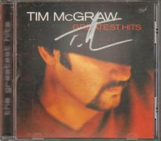 Tim McGraw Autographed Signed Greatest Hits Cd Cover