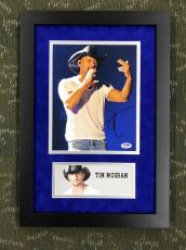 TIM McGRAW Autographed/signed Custom Framed display-PSA Authenticated