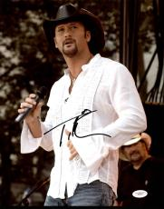 Tim McGraw Country Music Signed 11X14 Photo Autographed JSA #E82110