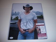 Tim Mcgraw Country Music Singer Jsa/coa Signed 11x14 Photo