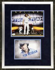 TIM McGRAW (Country Music Star) signed 8x10 custom framed display-JSA COA
