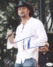 Tim Mcgraw Country Signed 8X10 Photo Autographed JSA #E17421