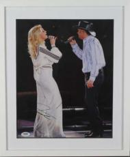 Tim McGraw Faith Hill Dual Signed Autographed 11x14 Photograph PSA/DNA