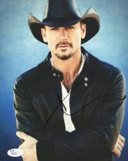 TIM MCGRAW HAND SIGNED 8x10 COLOR PHOTO+JSA      HANDSOME+SEXY COUNTRY SINGER