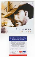 Tim McGraw Let it Go Signed AUTOGRAPH CD Cover Booklet PSA DNA Full Letter