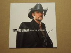Tim Mcgraw Live Like You Were Dying Autographed Cd Cover Signed Coa Free Ship