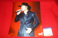 TIM MCGRAW sexy country star signed PSA/DNA 11x14 photo proof