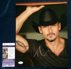 Tim McGraw Signed 11x14 JSA COA