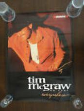 Tim McGraw Signed 18x24 Poster ON TOUR EVERYWHERE Uniroyal PSA GUARANTEE