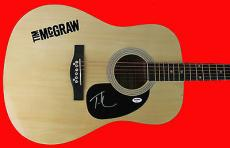 Tim McGraw Signed Acoustic Guitar Autographed PSA/DNA #Z90011
