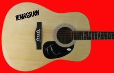 Tim McGraw Signed Acoustic Guitar Autographed PSA/DNA #Z90012