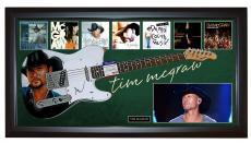 Tim McGraw Signed Airbrushed Guitar + Display Shadowbox Case PSA AFTAL