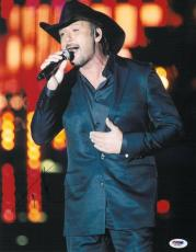 Tim McGraw Signed Authentic Autographed 11x14 Photo (PSA/DNA) #J03651