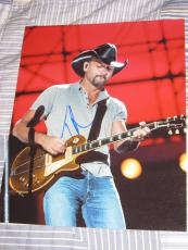 TIM MCGRAW SIGNED AUTOGRAPH 8x10 COUNTRY STRONG HILL E