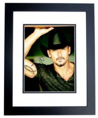 Tim McGraw Signed - Autographed Concert 11x14 inch Photo BLACK CUSTOM FRAME - Guaranteed to pass PSA or JSA - Country Music Singer
