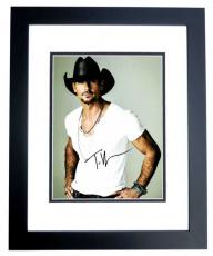 Tim McGraw Signed - Autographed Concert 11x14 Photo BLACK CUSTOM FRAME - Country Music Singer