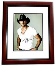 Tim McGraw Signed - Autographed Concert 11x14 Photo MAHOGANY CUSTOM FRAME - Country Music Singer