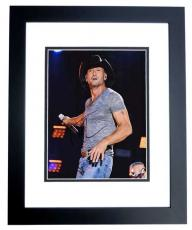 Tim McGraw Signed - Autographed Country Music Singer 8x10 Photo BLACK CUSTOM FRAME