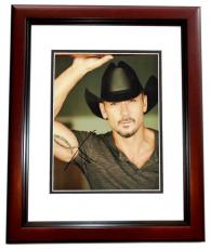 Tim McGraw Signed - Autographed Country Music Singer 8x10 Photo MAHOGANY CUSTOM FRAME
