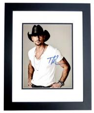 Tim McGraw Signed - Autographed Country Singer 11x14 inch Photo BLACK CUSTOM FRAME - Guaranteed to pass PSA or JSA