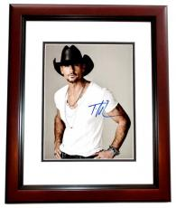 Tim McGraw Signed - Autographed Country Singer 11x14 inch Photo MAHOGANY CUSTOM FRAME - Guaranteed to pass PSA or JSA