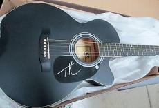 Tim McGraw Signed Black Eleca Acoustic Guitar WCC HOLO COA