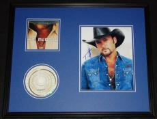 Tim McGraw Signed Framed 16x20 CD & Photo Display JSA