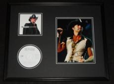 Tim McGraw Signed Framed 16x20 CD & Photo Display Live Like You Were Dying