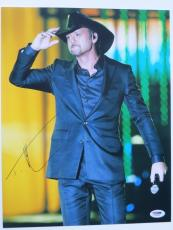 Tim McGraw Signed In Concert Autographed 11x14 Photo (PSA/DNA) #J03654