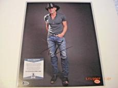 Tim Mcgraw,famous Country Singer Td/holo Signed 11x14 Photo