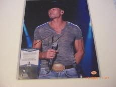 Tim Mcgraw,famous Country Singer,faith Hills Husband Td/holo Signed 11x14 Photo