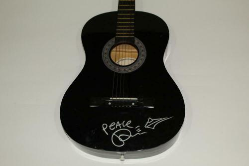 Tim Reynolds Signed Autograph Acoustic Guitar W/ Sketch - Dave Matthews Band Psa