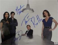 Tim Roth Kelli Williams Monica Raymund +1 Signed 11x14 Photo Lie To Me GA769730