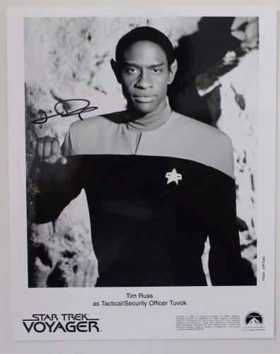 TIM RUSS ACTOR Commander Tuvok STAR TREK VOYAGER Autographed 8x10 B&W Signed 15A