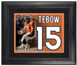 Denver Broncos Tim Tebow Framed Jersey Photo - Mounted Memories