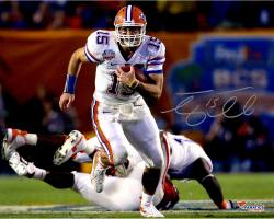 "Tim Tebow Florida Gators Autographed 16"" x 20"" Run In BCS Game vs Oklahoma Photograph"