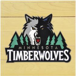 "NBA Minnesota Timberwolves 12"" x 12"" Logo Floor Piece"