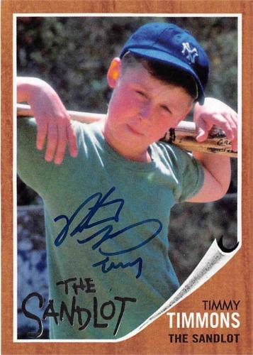 Timmy Timmons The Sandlot autographed baseball card by Victor DiMattia 2018 Topps #SLTIM
