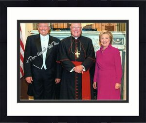 TIMOTHY CARDINAL DOLAN SIGNED AUTOGRAPHED 11x14 PHOTO - ARCHBISHOP, DONALD TRUMP