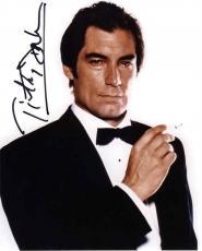 Timothy Dalton Bond Smoking Autographed Signed 8x10 Photo Authentic AFTAL COA