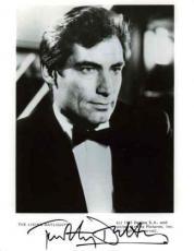 Timothy Dalton Living Daylights Autograph Signed 8x10 Photo Authentic AFTAL COA